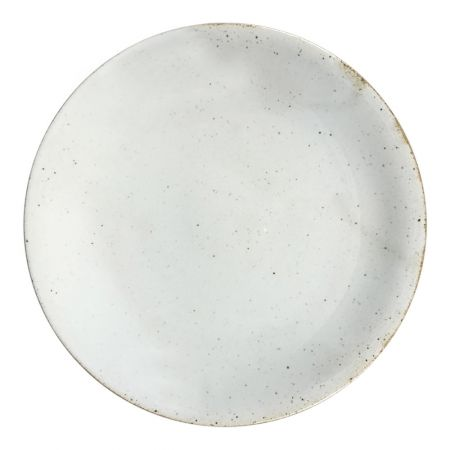 Earthware breakfast plate