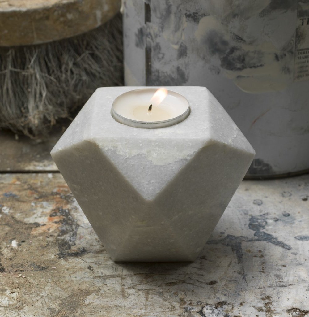 Dassie Artisan kanti flip candle holder white