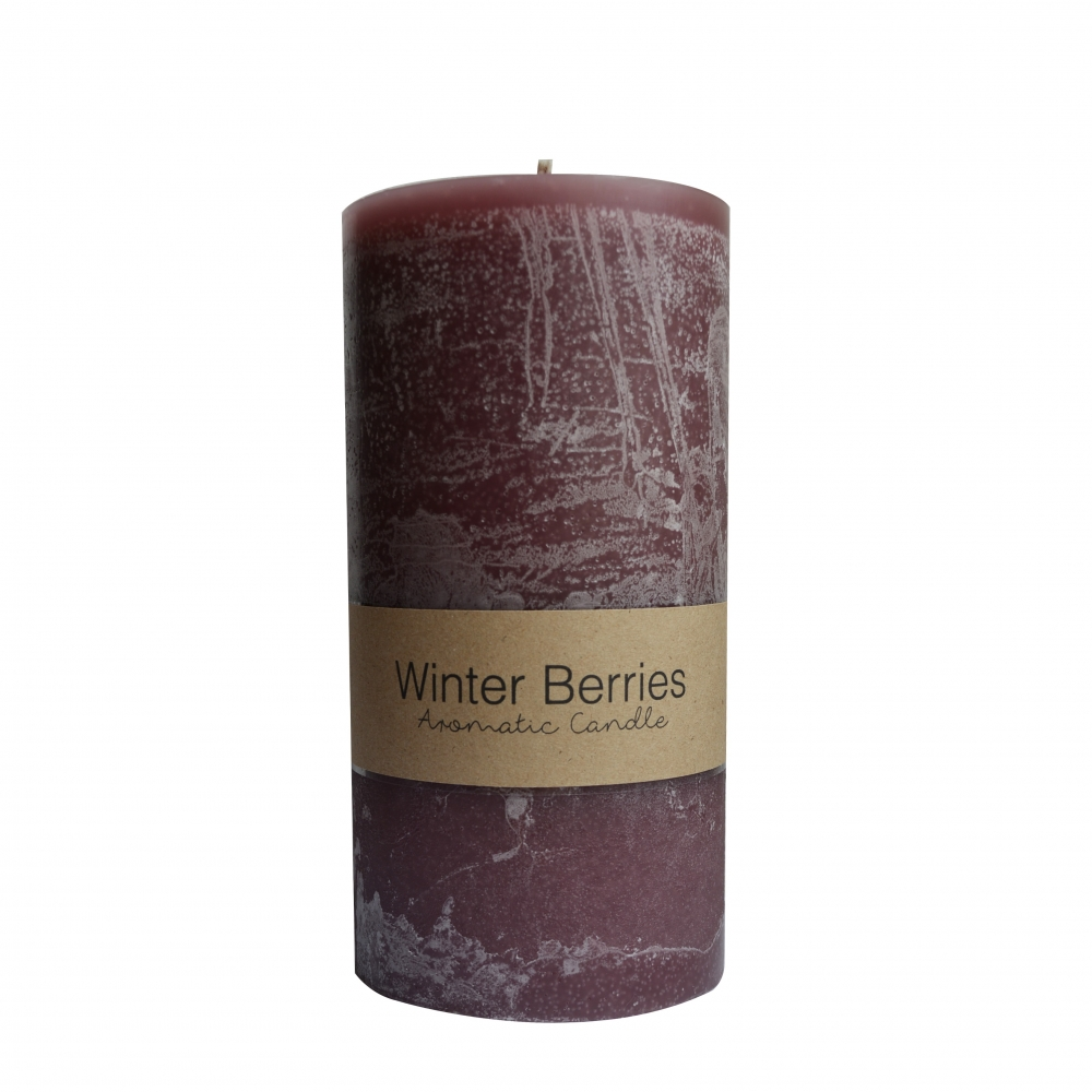 Pillar candle small - winter berries Dassie Artisan
