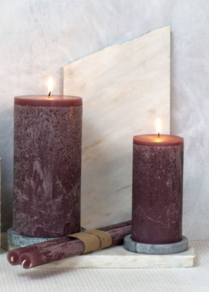 Pillar candle small - winter berries Dassie Artisan
