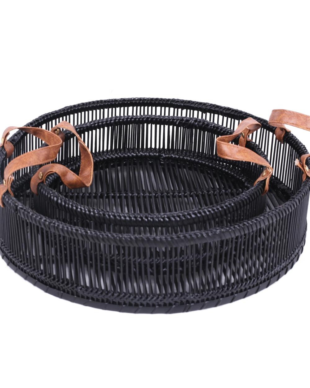 Dassie Artisan bamboo trays black