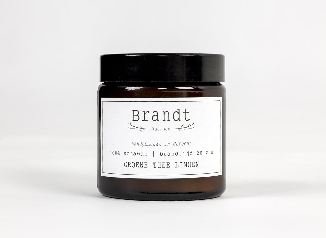 Apothecary candle by Brandt - green tea lime