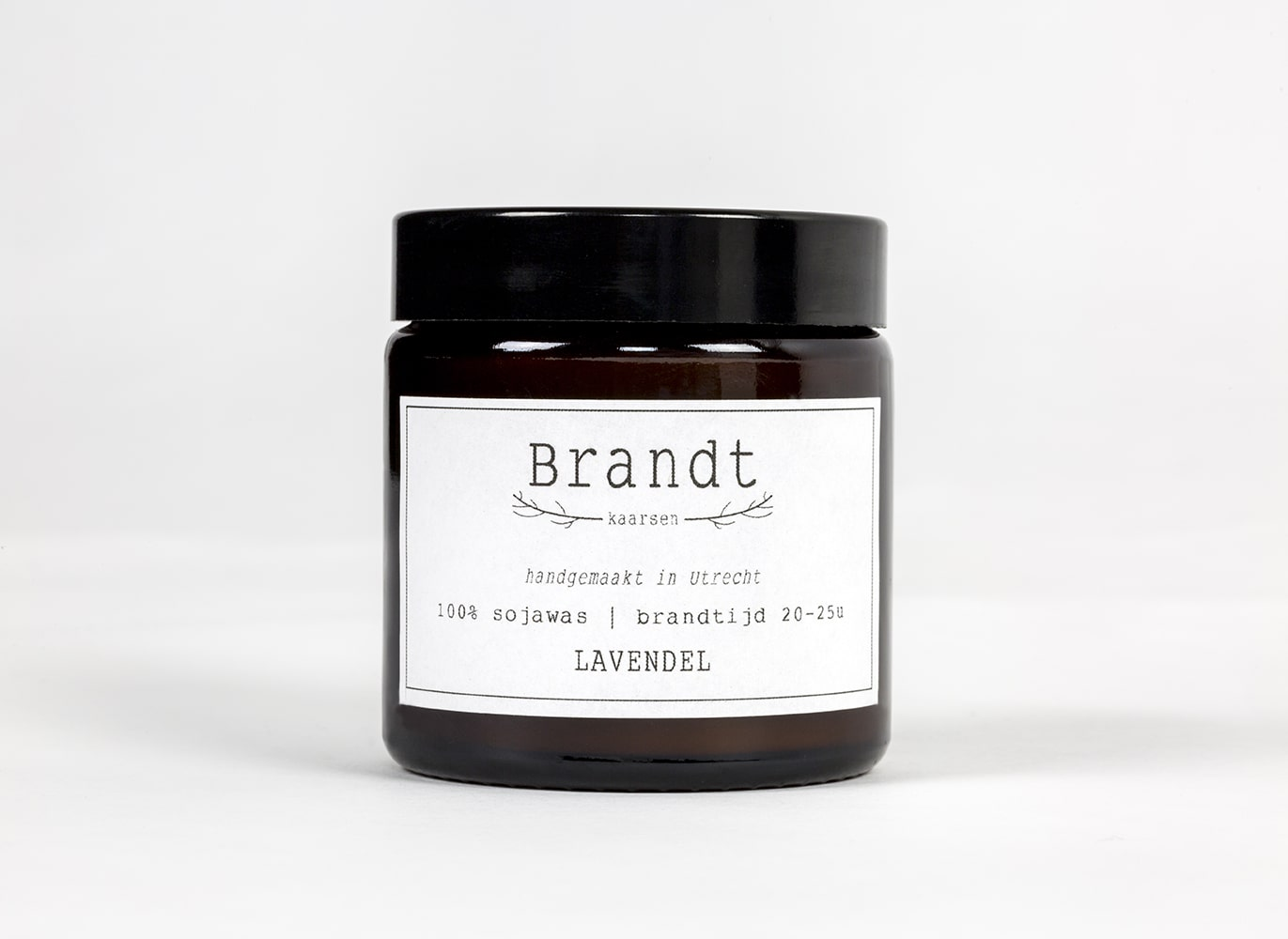 Apothecary candle by Brandt - lavender
