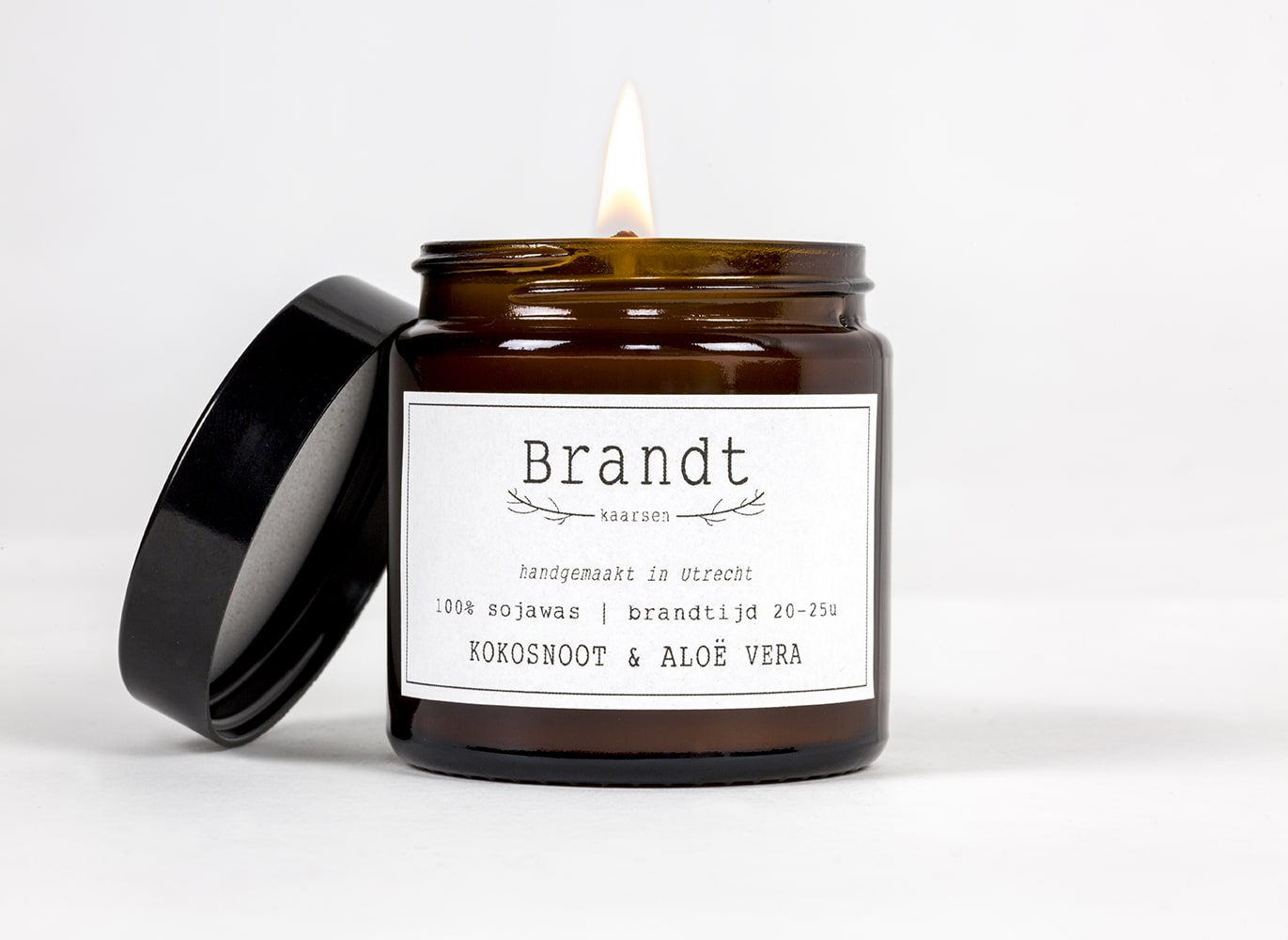 Apothecary candle by Brandt - coconut & aloe vera
